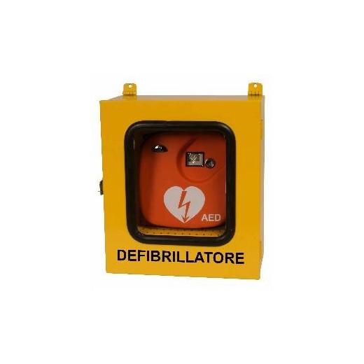 Teca da esterno per Defibrillatore DEF-041TA con Termoregolazione e Allarme Antifurto.