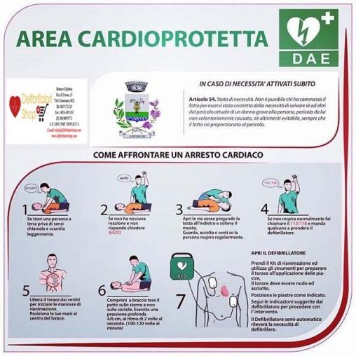 Pannello in forex AREA CARDIOPROTETTA per defibrillatore