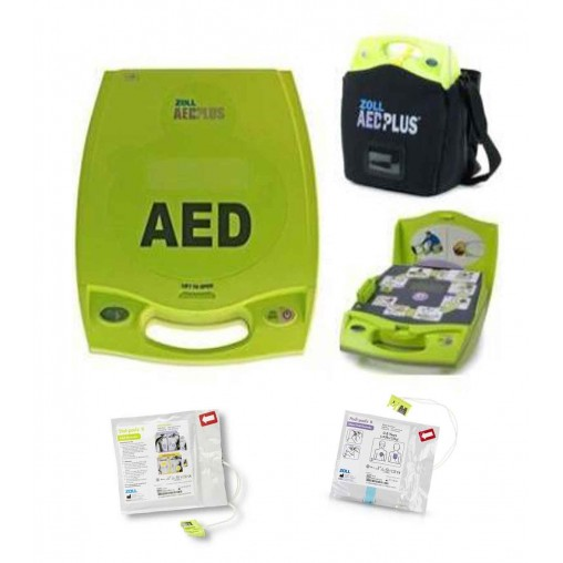 Defibrillatore Semiautomatico ZOLL AED PLUS con Elettrodi Adulti Smart Pads II + Elettrodi Pediatrici